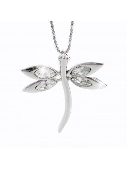 Náhrdelník Vážka s kameny Swarovski® Crystal