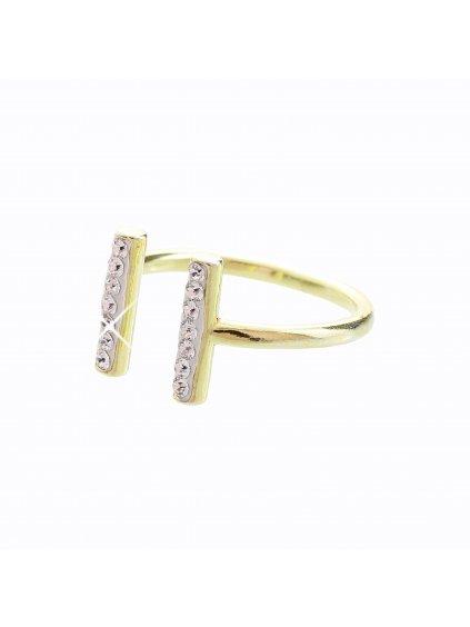J92700120CR-G Stříbrný prsten Swarovski® components Podkova