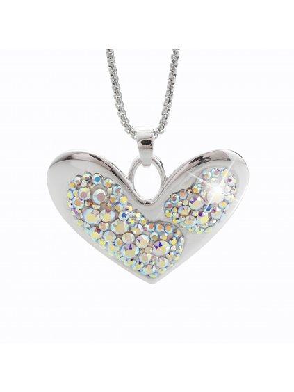 Náhrdelník Srdce s křišťálky Swarovski® Crystal AB