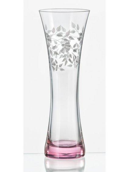 Vázička 195mm, fialové podbarvení, květinový dekor top