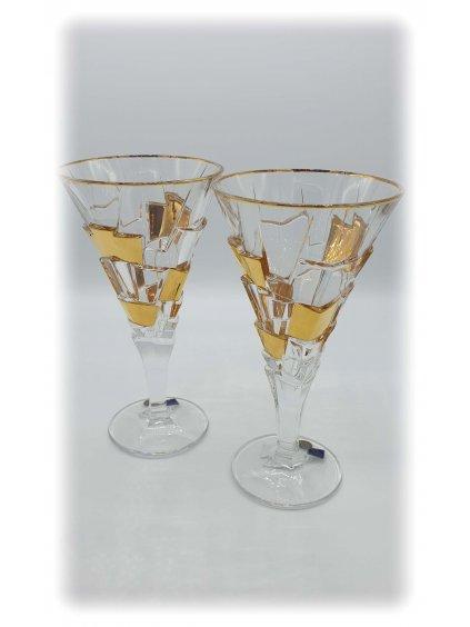 3768 kristalove sklenice sekt crack 2ks
