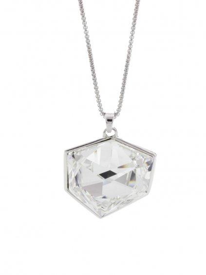 Náhrdelník Kostka s kameny Swarovski® Crystal