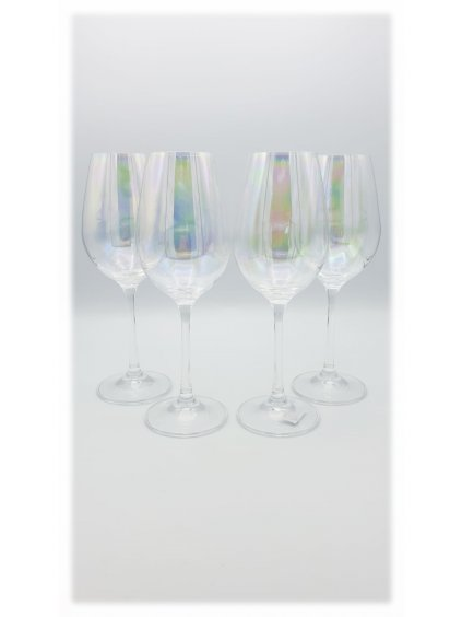 Duhové sklenice na víno, 4 ks
