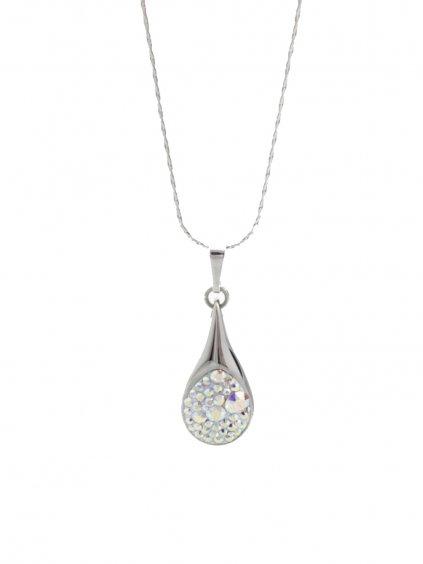 J61300476AB Náhrdelník Drop s kameny Swarovski® Crystal AB