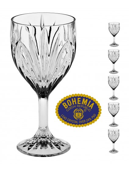 Křišťálové sklenice na víno 290ml  Bohemia Crystal, 6ks