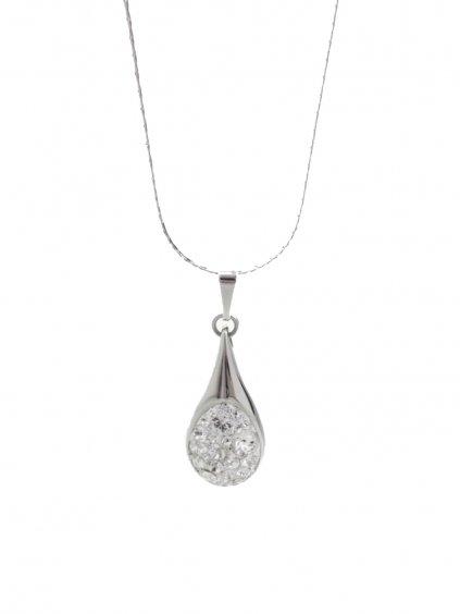 J61300476cr Náhrdelník Drop s kameny Swarovski® Crystal