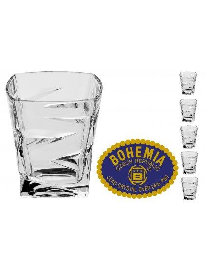 Křišťálové sklenice na whisky 300ml  Bohemia Crystal, 6ks
