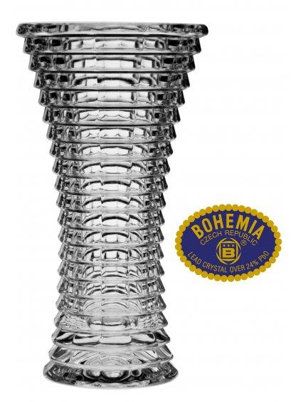 Skleněná váza 25cm - křišťálové sklo Bohemia Crystal