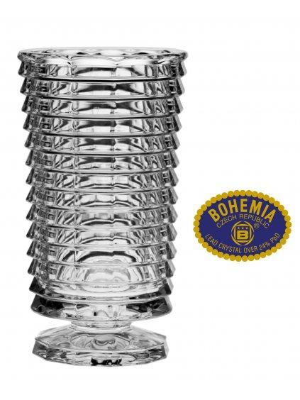 Skleněná váza 25,5cm - křišťálové sklo Bohemia Crystal