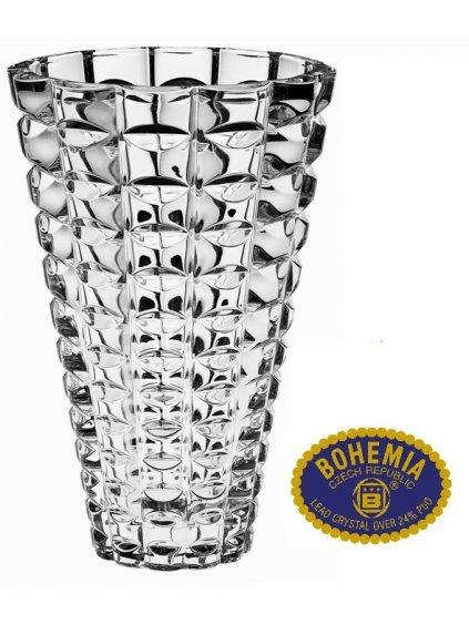 Skleněná váza 26cm - křišťálové sklo Bohemia Crystal