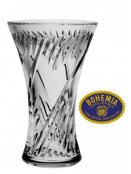 Skleněná váza 19,5cm - křišťálové sklo Bohemia Crystal