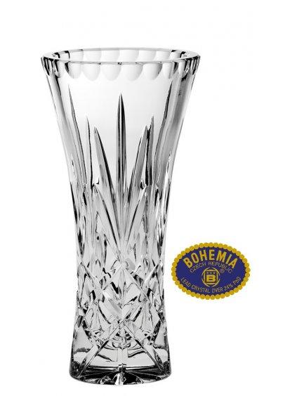 Skleněná váza 20,5cm - křišťálové sklo Bohemia Crystal