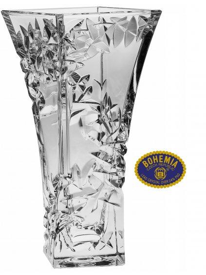Skleněná váza 29cm - křišťálové sklo Bohemia Crystal