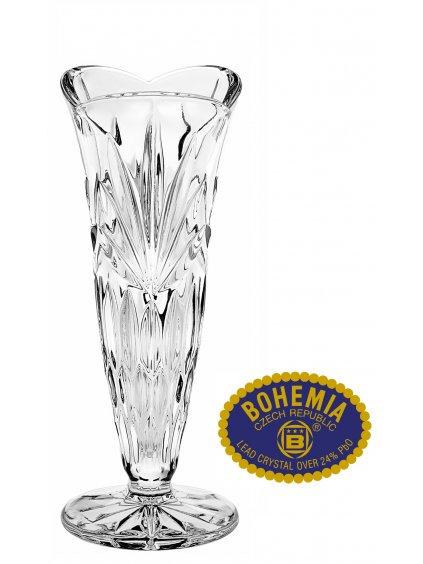Skleněná váza 17cm - křišťálové sklo Bohemia Crystal