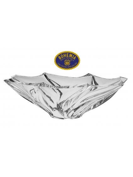 Skleněná mísa 33cm - křišťálové sklo Bohemia Crystal