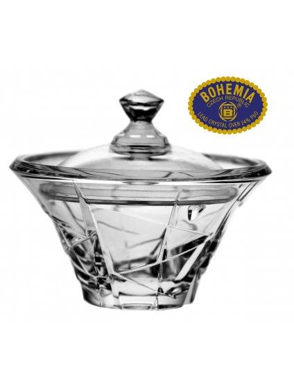 Skleněná dóza  - křišťálové sklo Bohemia Crystal