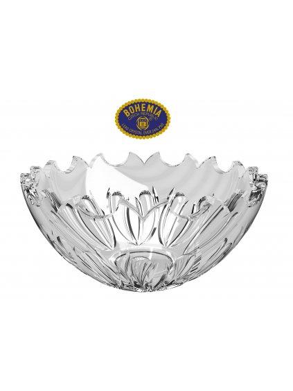 Skleněná mísa 25,5cm - křišťálové sklo Bohemia Crystal