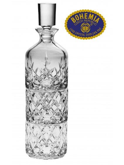 3993 kristalovy set lahev 2ks sklenic stohovatelne bohemia crystal