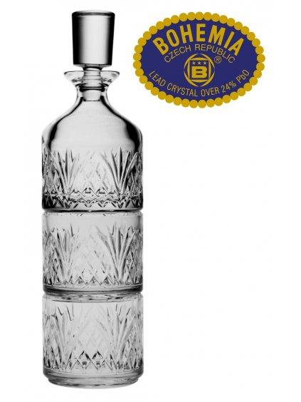 Křišťálový set láhev + 2ks sklenic - stohovatelné - Bohemia Crystal