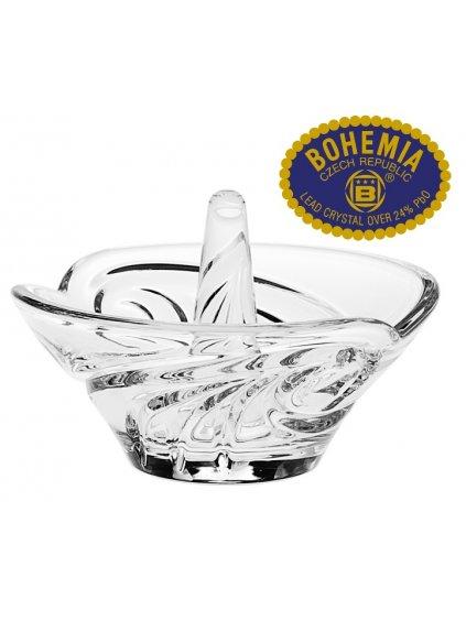 Skleněný prsteník 8,8cm - křišťálové sklo Bohemia Crystal