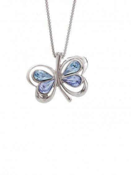 Náhrdelník Motýl s kameny Swarovski® Light Sapphire