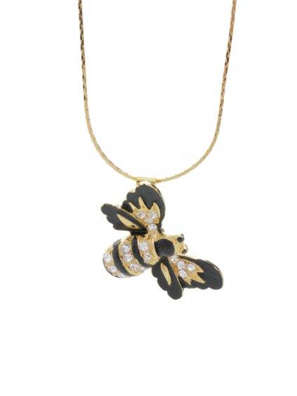 61300511rg Náhrdelník Včela s kameny Swarovski® Rose Gold