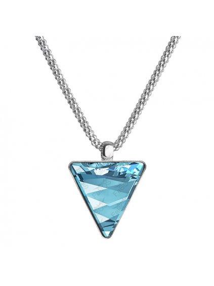 Náhrdelník Trojúhelník s kamenem Swarovski® Aquamarine