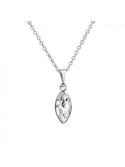 Náhrdelník Naveta malá s kameny Swarovski® Crystall