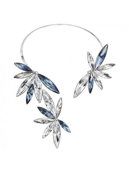 Náhrdelník Naveta Flowers s kameny Swarovski® Denim Blue
