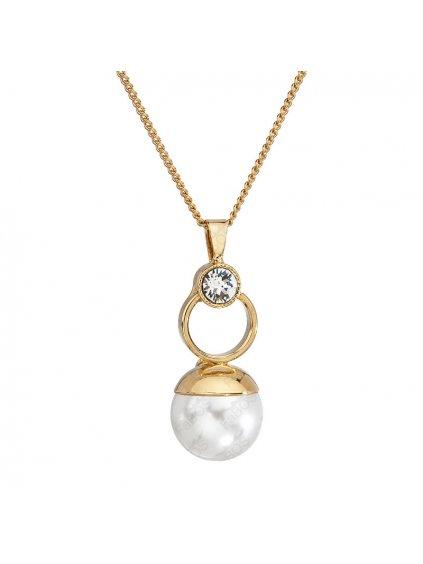 Řetízek s přívěskem Perla Swarovski® Crystal