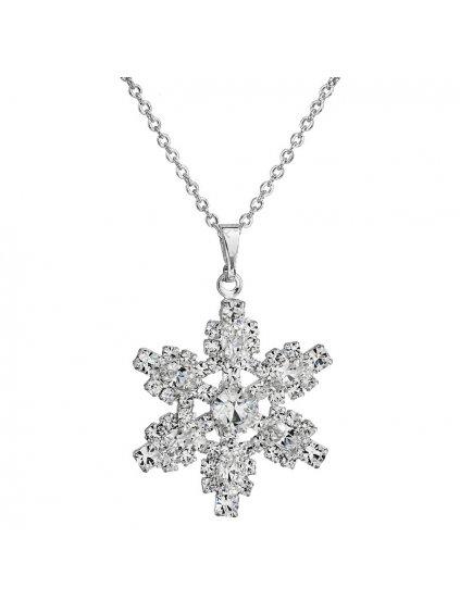 Náhrdelník Vločka velká s kameny Swarovski® Crystal