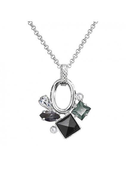 Náhrdelník Luxury Navety s kameny Swarovski® Black Diamond