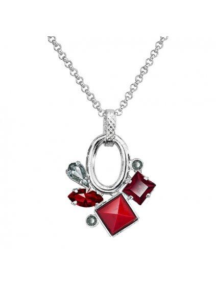 Náhrdelník Luxury Navety s kameny Swarovski® Siam