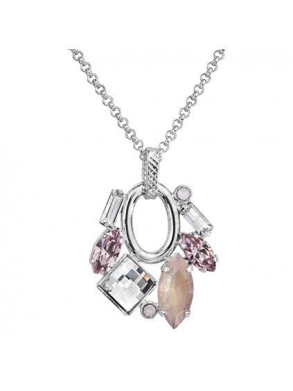 Náhrdelník Luxury Navety s kameny Swarovski® Rose