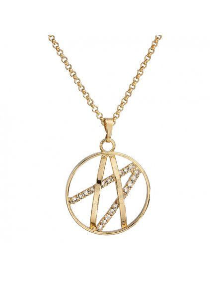 Náhrdelník Ornament malý s kameny Swarovski® Gold