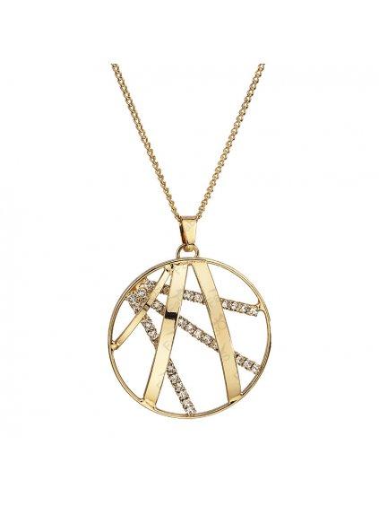 Náhrdelník Ornament velký s kameny Swarovski® Gold