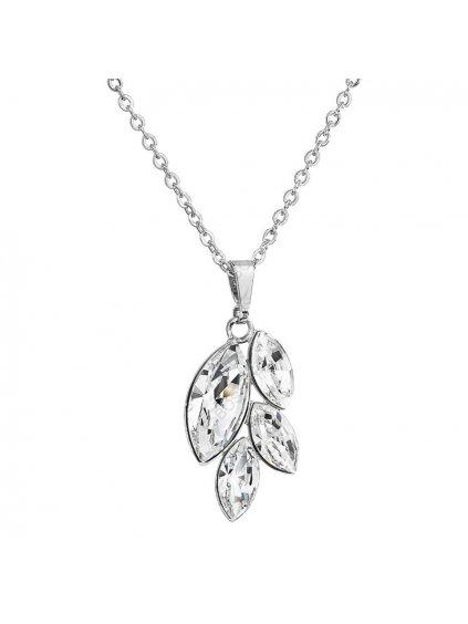 Náhrdelník Lístečky malé s kameny Swarovski® Crystal