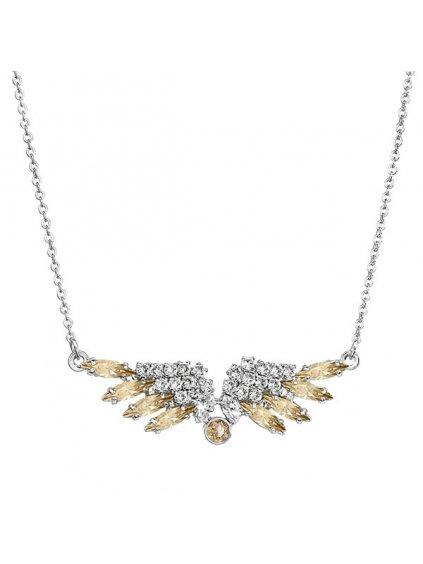 Náhrdelník Andělská křídla s kameny Swarovski® Golden Shadow