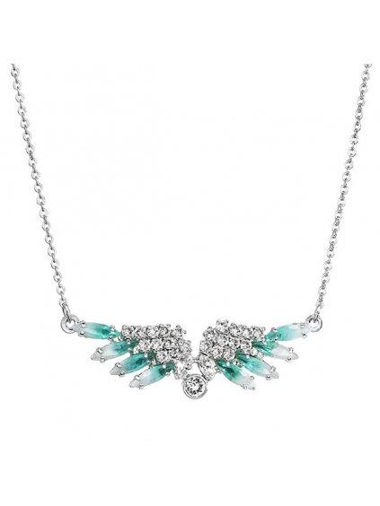 Náhrdelník Andělská křídla s kameny Swarovski® Aqua