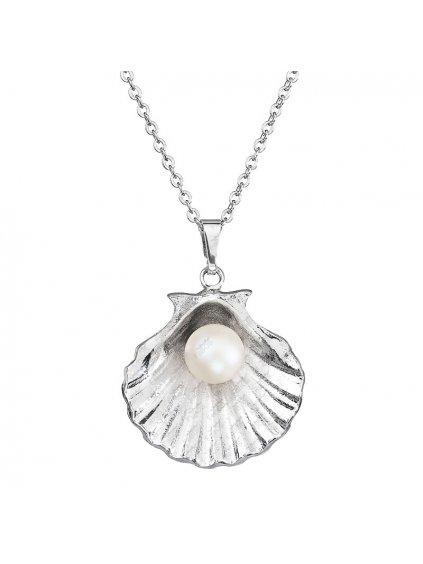 Náhrdelník Mušle s perlou Swarovski® Pearlescent White