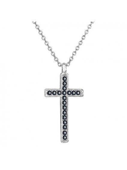Náhrdelník Křížek s kameny Swarovski® Graphite