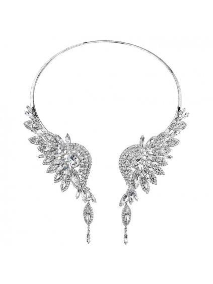 Náhrdelník Andělská křídla štras s kameny Swarovski® Crystal