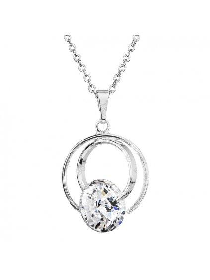 Náhrdelník Rivoli kroucená s kamenem Swarovski® Crystal
