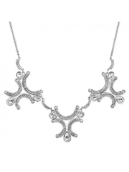Náhrdelník Exclusive půlkruhy s kameny Swarovski® Crystal