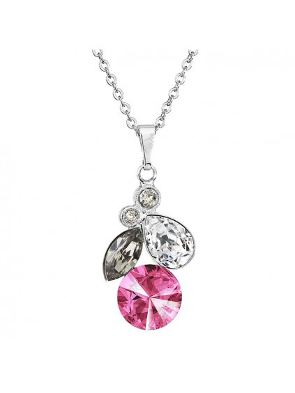 Náhrdelník Rivoli style s kameny Swarovski® Rose