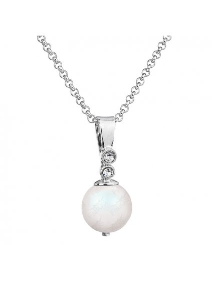 Náhrdelník Bílá perla Swarovski® Pearlescent White