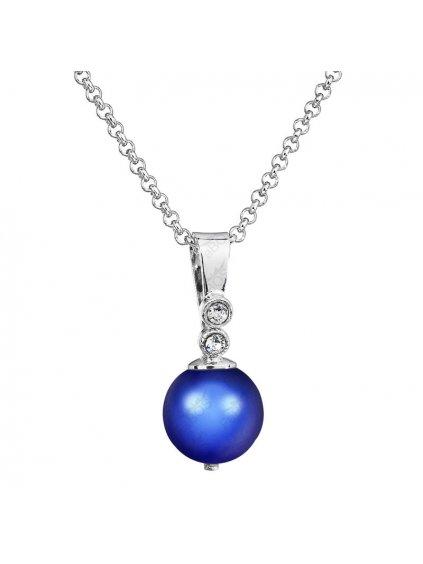 Řetízek s přívěskem Perla Swarovski® Dark Blue