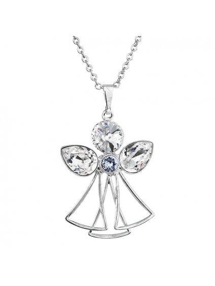 ŘŘetízek s přívěskem Anděl s kameny Swarovski® Crystal