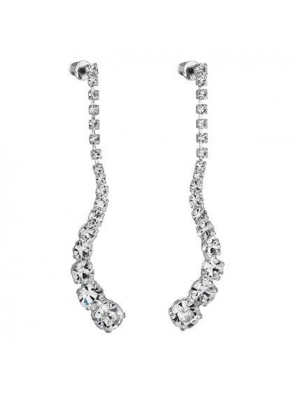 Náušnice Vlna šatony Preciosa® Crystal PRE