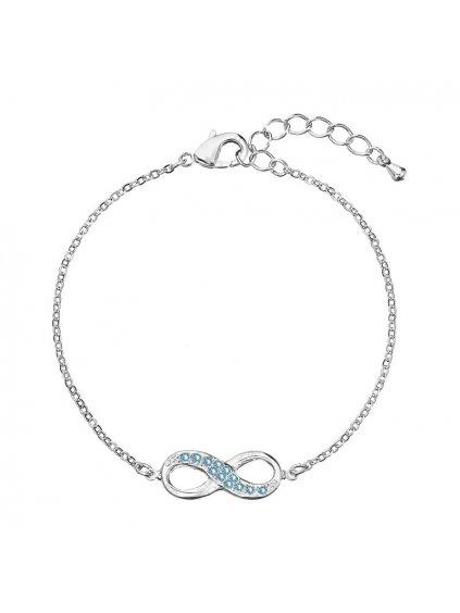Náramek Nekonečno s kameny Swarovski® Aquamarine